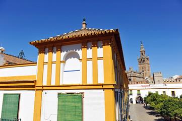 Patio Banderas, Giralda de Sevilla, España