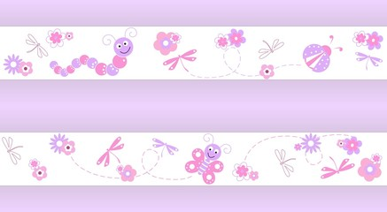 Seamless pattern pink for kids