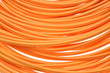 Leinwanddruck Bild - Orange multimode fiber optical cables