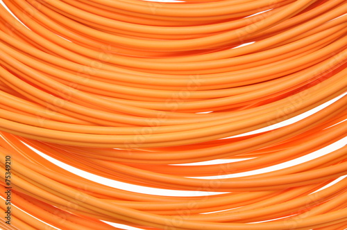 canvas print picture Orange multimode fiber optical cables