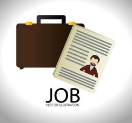 Job design over white backgroundvector illustration