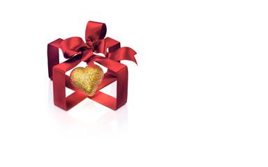 Giorno di San Valentino concetto. Cuore d'oro