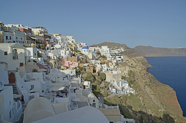 oia santorini island, oia city, greek tourist resort