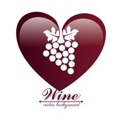 Wine design over white backgroundvector illustration