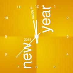 New Year 2015 orange clock design