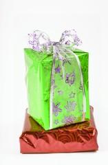 подарки новогодние с бантиком