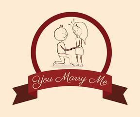Wedding design over pink background vector illustration