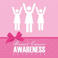 Cancer design over pink background vector illustration