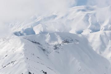 冬の五龍岳