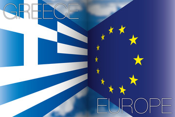 greece vs europe flags