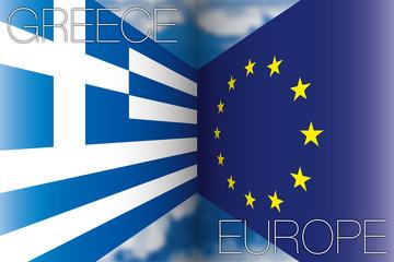 greece vs europe flags