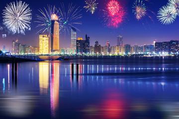 New Year fireworks display in Abu Dhabi, UAE