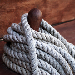 Rope on deck