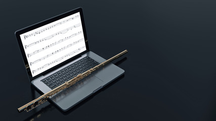 computer with flute