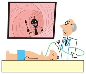 胃カメラで原因を見つけるドクター