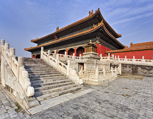China Forbidden city Stairs temple