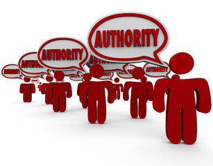 Authority People Speech Bubbles Experts Top Knowledge Skilled Re