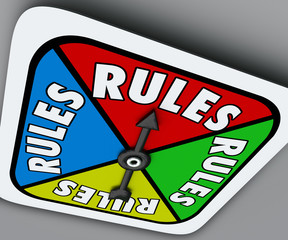 Rules Board Game Spinner Regulation Compliance Play Compete