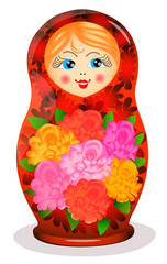 Painted Russian toy Matrioshka