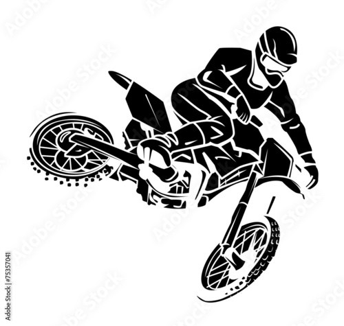 Fototapeta Moto cross rider