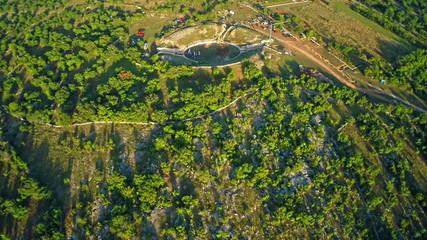 Burnum Roman amphitheater, aerial