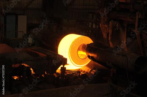 Rolling Hot Steel
