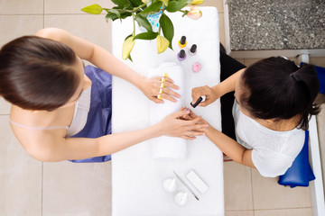 Receiving manicure