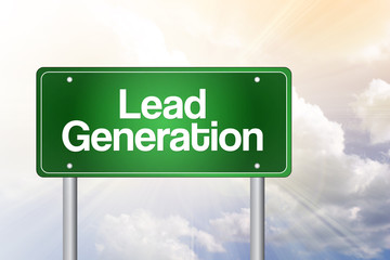 Lead Generation Green Road Sign, Business Concept