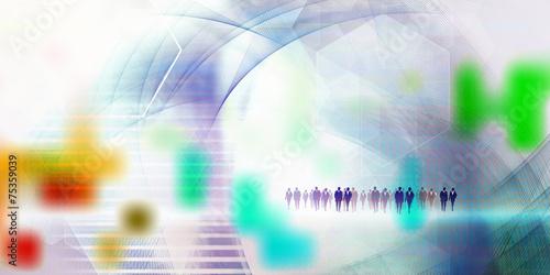 canvas print picture menschen business futuristisch