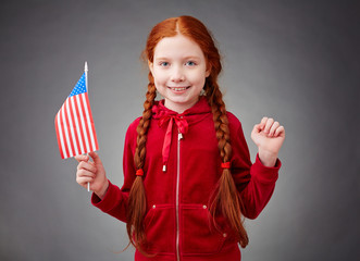 Little American girl