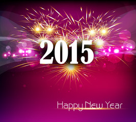 Beautiful celebration Happy new Year 2015 colorful background ve
