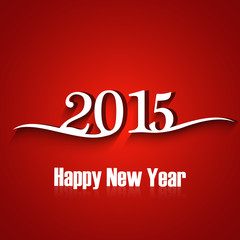 Text for new year 2015 vector colorful background