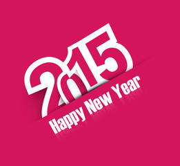 Happy new year 2015 colorful creative background vector