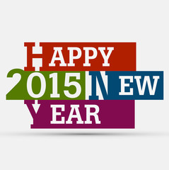 celebration for Happy New Year 2015 creative colorful design vec