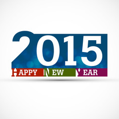 New year 2015 creative colorful vector illustration