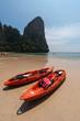 Leinwandbild Motiv Railay beach in Krabi Thailand kajak