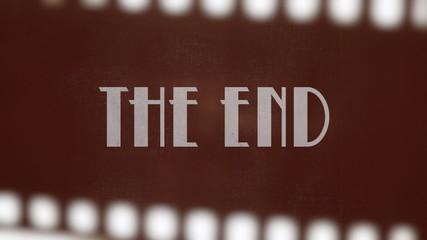 Film vintage The End 20s strip