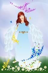 anioł wiosny,