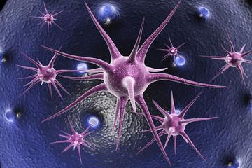 3d render of neuron