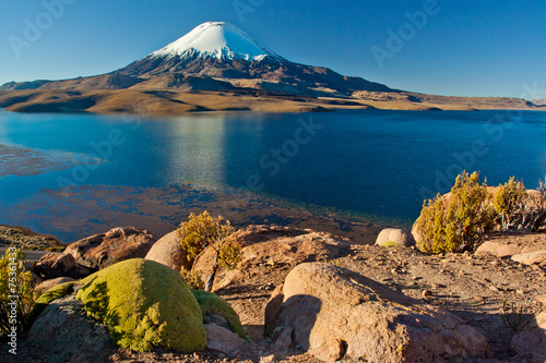 Papiers peints Volcan Lake Chungara at Parinacota national park