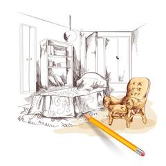Bedroom Sketch Interior