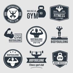 Bodybuilding Label Set