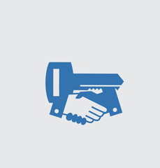 Shake a hand with key