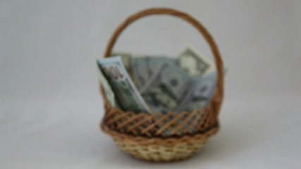 money in the basket