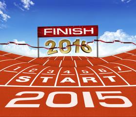 Happy New Year 2015 Running Background