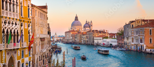Grand Canal in Venice, Italy.