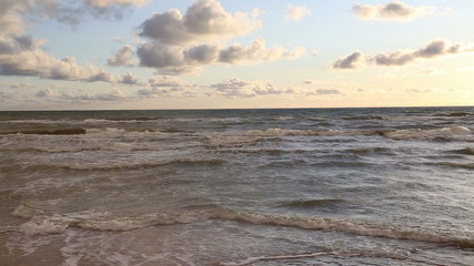 Baltic Sea waves Ventspils Latvia video
