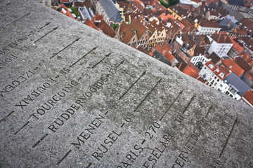 The top of the Belfort in Bruges