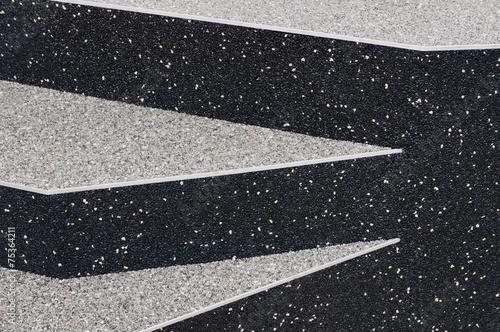 Leinwanddruck Bild Moderne Außentreppe mit Epoxidharzbeschichtung