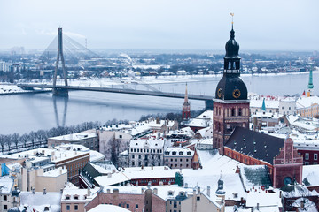 The general view of old city of Riga, Latvia